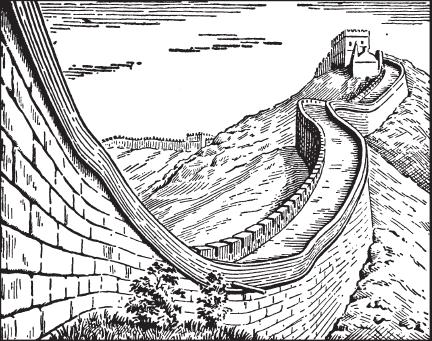 Великая китайская стена раскраска